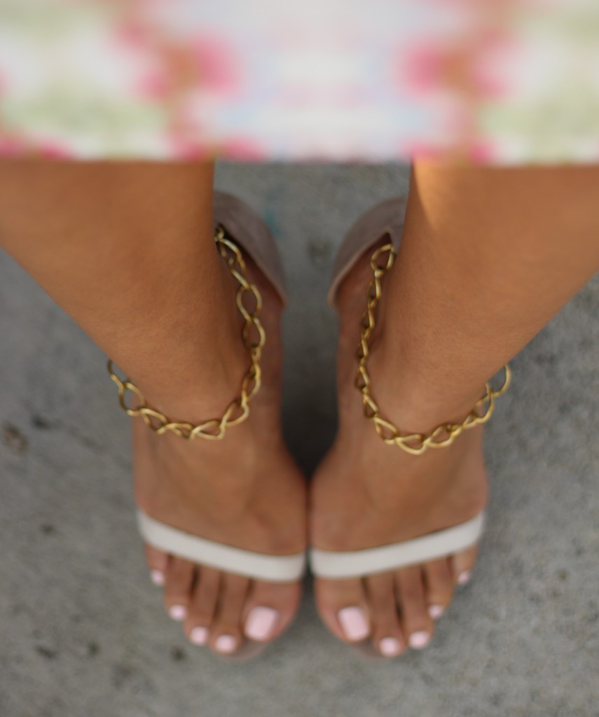 DIY Chain Ankle Strap for Sandals Pumps &amp Flats | The Dressy Chick