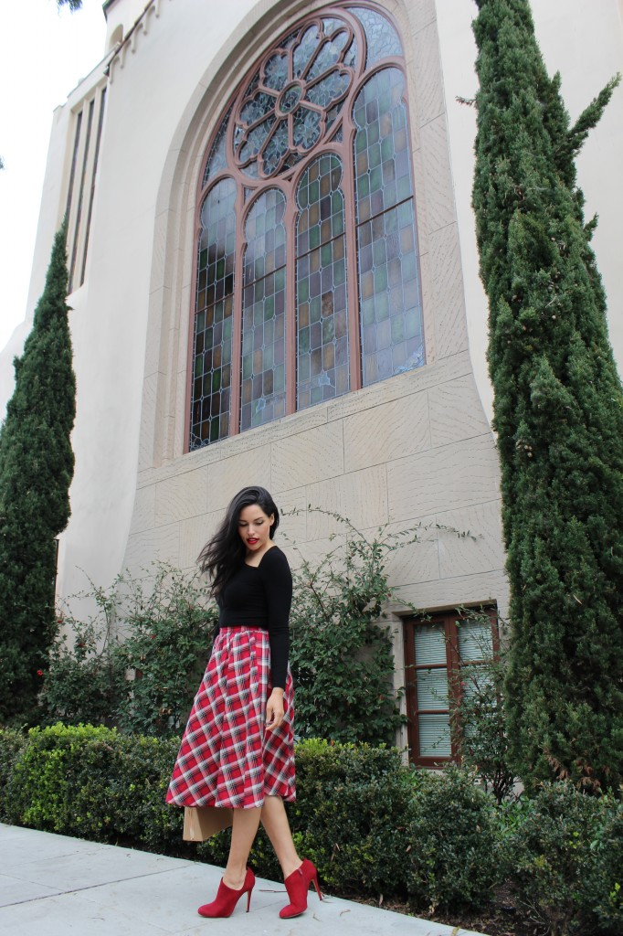 For the Love of a Plaid Midi Skirt