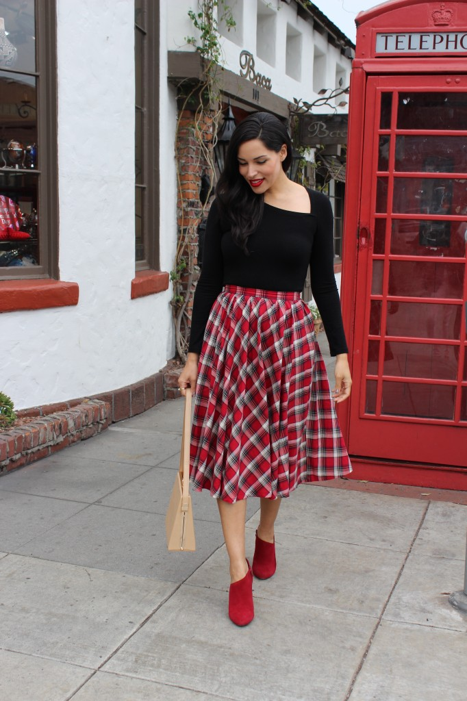 For the Love of a Plaid Midi Skirt | The Dressy Chick