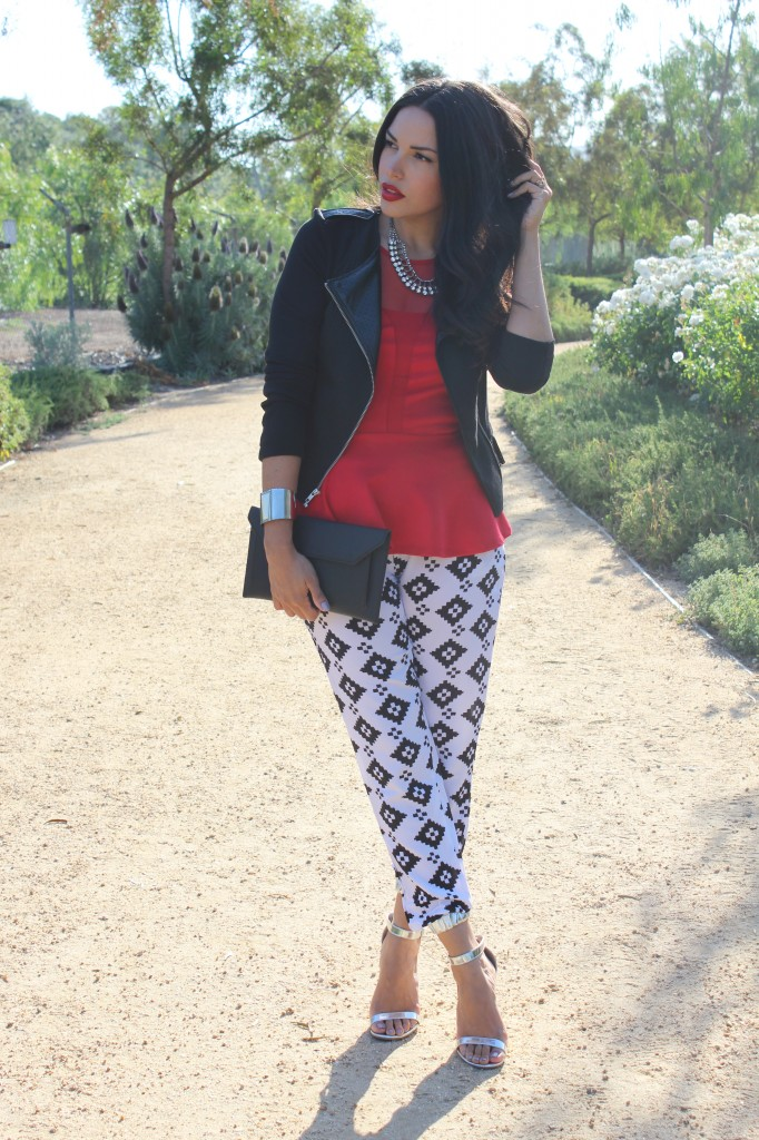 Pretty Prints & A Peplum Moto
